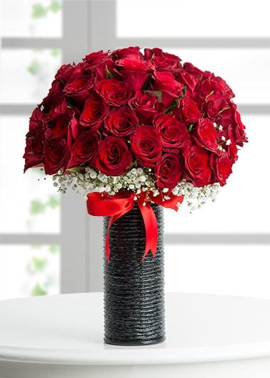 Vazoda Aşk Pırıltısı 24 gül