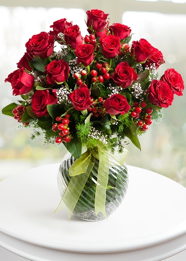 Vazoda Aşk Gülleri 15 gül